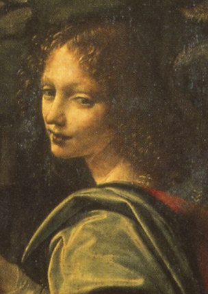 Голова ангела. Деталь картины «Мадонна среди скал» (Париж 73edb025c63d5